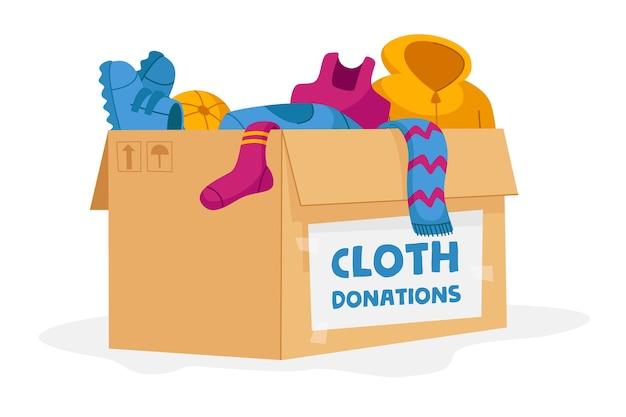 Donazione di stoffa e concetto di beneficenza