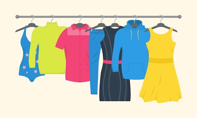 Abbigliamento e accessori set di icone di moda.