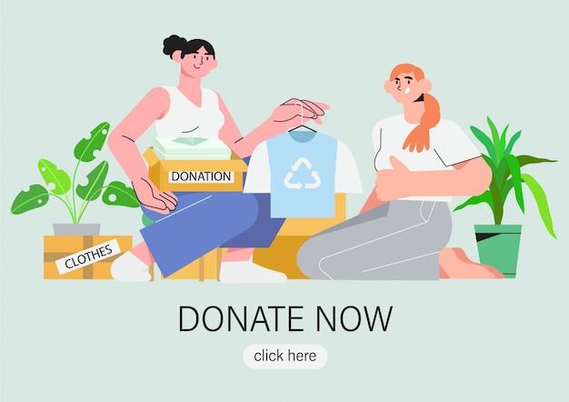 Abbigliamento donazione, riutilizzo, seconda mano, moda a spreco zero.