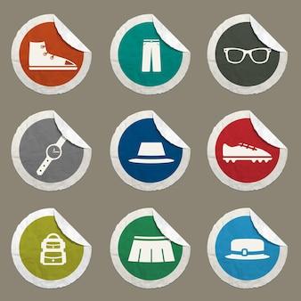 Set di icone di vestiti per siti web e interfaccia utente