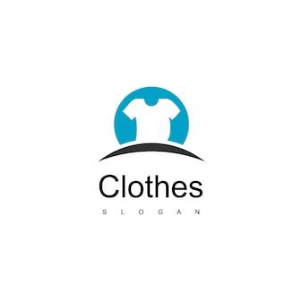 Abbigliamento lavanderia e logo del negozio