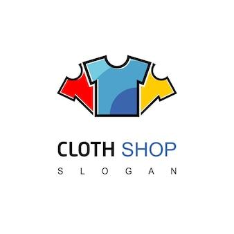 Modello di logo del negozio di abbigliamento