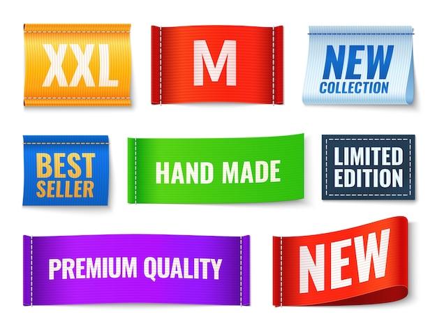 Illustrazione di etichette di vestiti