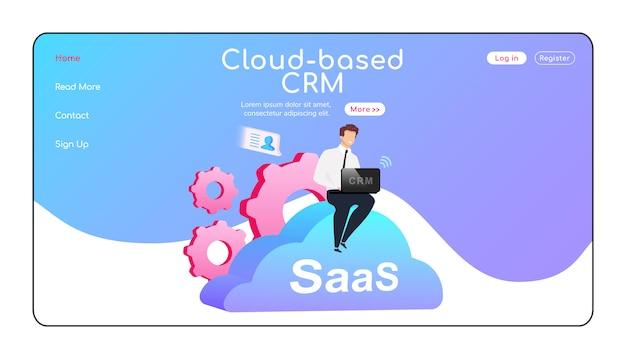 Pagina di destinazione crm basata su cloud