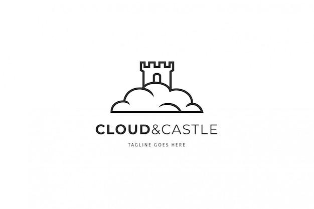 Modello logo cloud castle