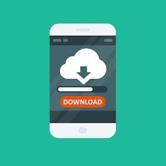 App di cloud computing: scarica la barra di avanzamento