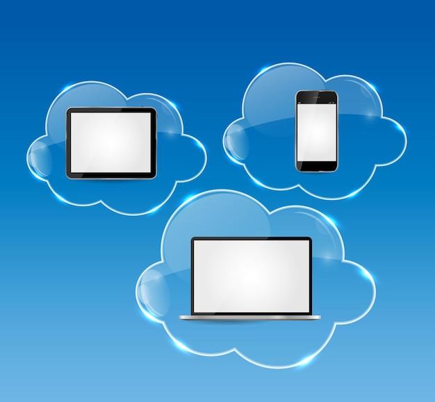 Illustrazione di concetto di affari di cloud computing.