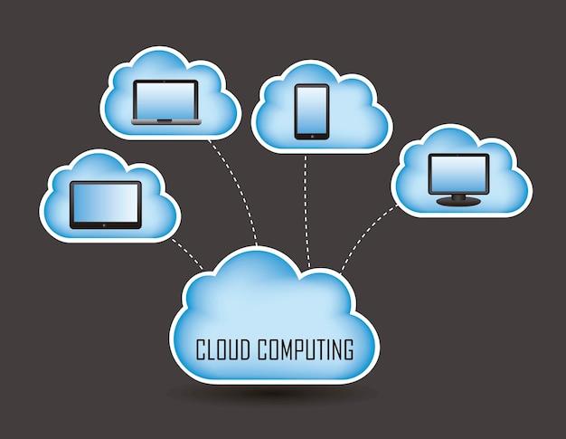 Illustrazione di vettore di progettazione di massima di concetto della nuvola