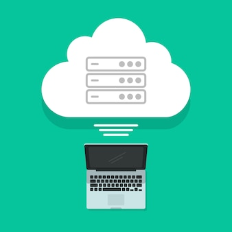 Concetto di cloud computing sul verde