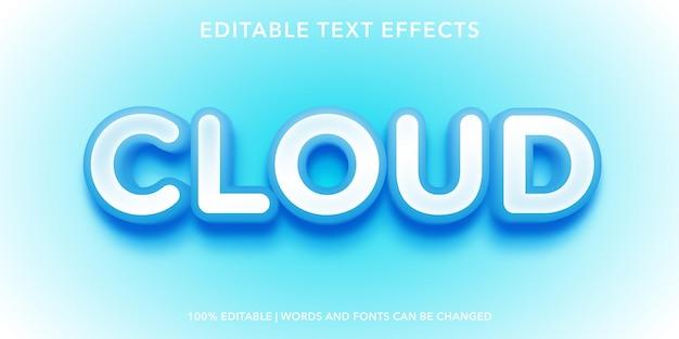 Effetto testo modificabile nuvola cloud