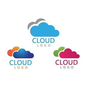 File cloud ispirazione per il design del logo dei dati del server di caricamento file sicuro secure