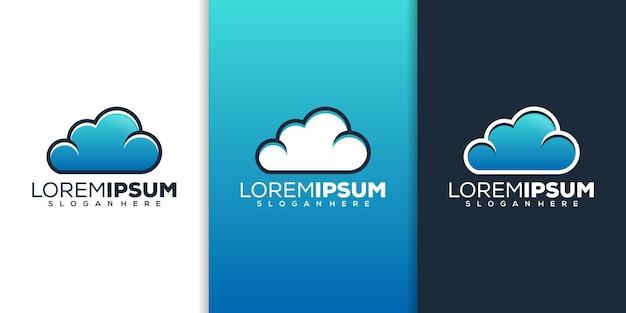 Design del logo della nuvola
