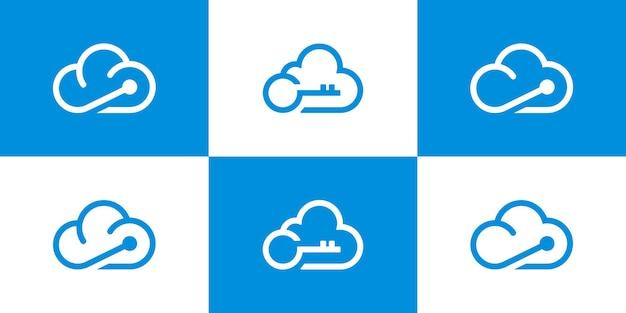 Modello simbolo icona logo nuvola