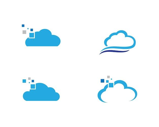 Progettazione dell'illustrazione di vettore del modello di logo della nuvola