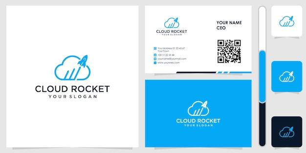 Logo nuvola con disegno vettoriale biglietto da visita premium