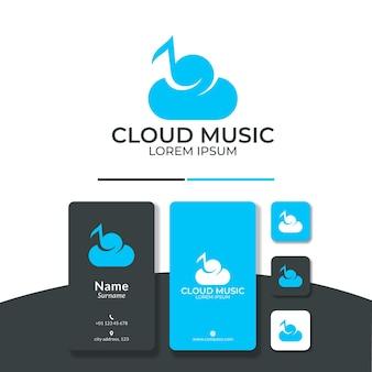 Nuvola musica logo design nota cielo