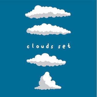 Sfondo modello nuvola social media post vector illustration