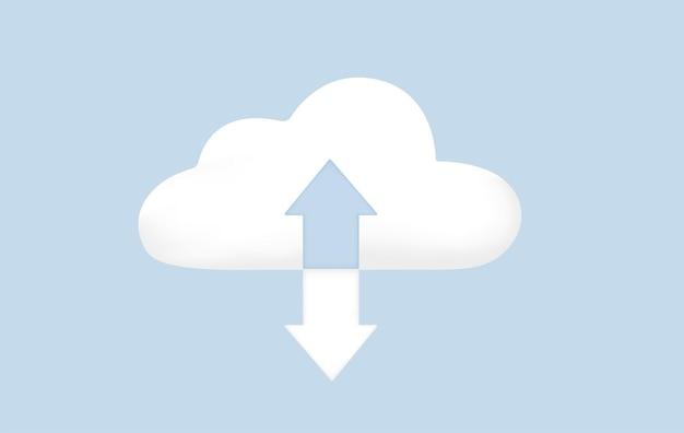 Soluzione cloud scaling la tecnologia di cloud computing è facile da gestire in crescita e diminuzione della domanda