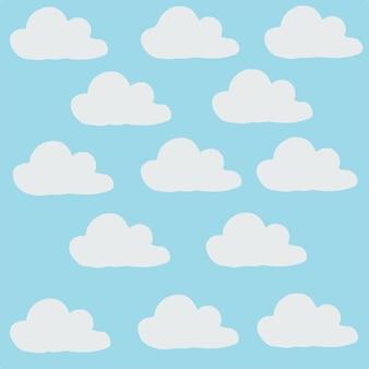 Illustrazione di vettore del fondo senza cuciture della nuvola