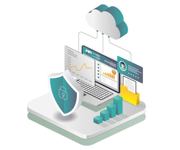 Sicurezza dei dati del server cloud e analisi del business degli investimenti