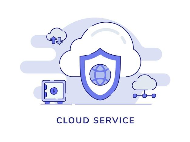 Concetto di servizio cloud