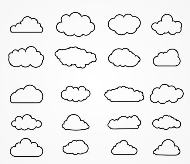 Collezione di forme di nuvole