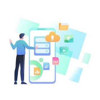 Illustrazione del concetto di cloud storage