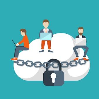 Concetto di storage cloud