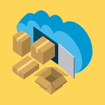 Archiviazione cloud aperta e chiusa apre dati aperti