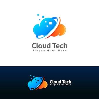 Modello di logo della tecnologia cloud