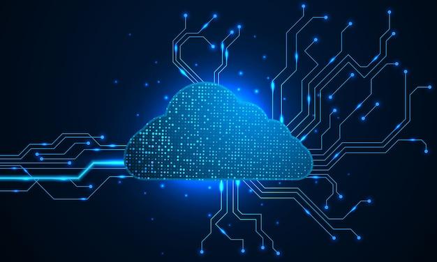 Concetto digitale di progettazione moderna di tecnologia della nuvola. trama di sfondo astratto