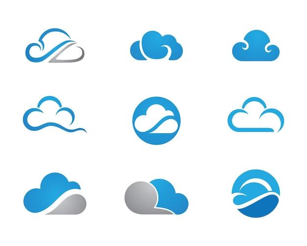 Vettore di progettazione del modello di logo di vettore di tecnologia cloud