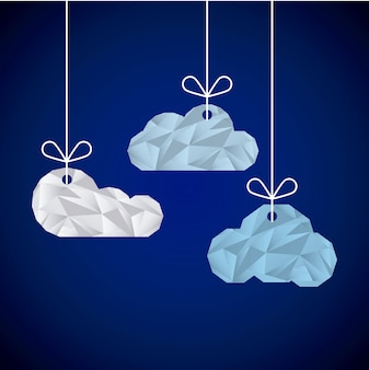 Progettazione astratta delle nuvole, grafico dell'illustrazione eps10 di vettore