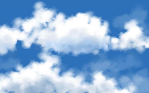 Nuvole sullo sfondo del cielo blu