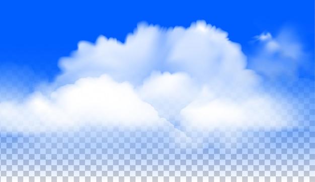 Il vettore realistico di nuvole