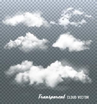 Nuvole su sfondo trasparente.