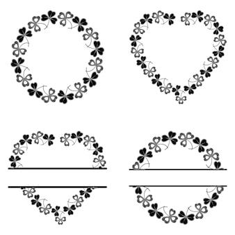 La cornice del trifoglio è rotonda e a forma di cuore