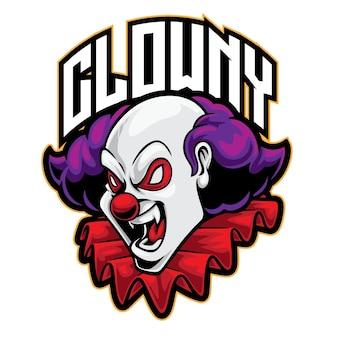 Clown evil esport logo