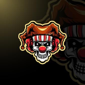 Logo mascotte pagliaccio e-sport