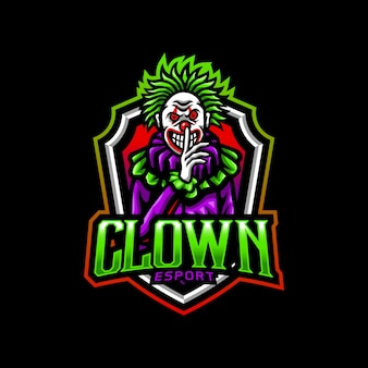Clown mascotte logo esport gaming