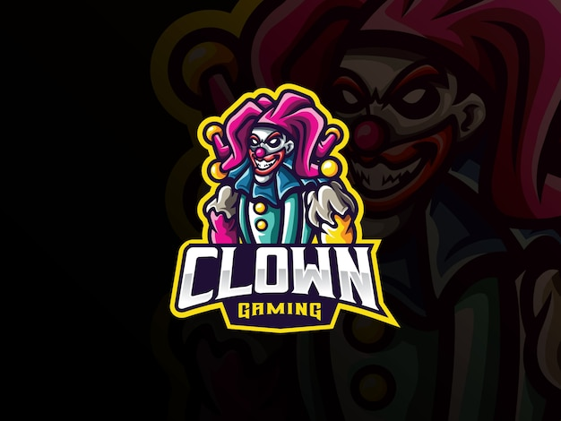 Logo design mascotte clown sport