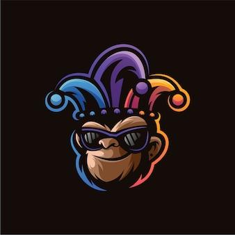 Disegno del logo scimmia pagliaccio