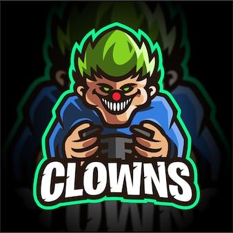 Clown esport logo di gioco