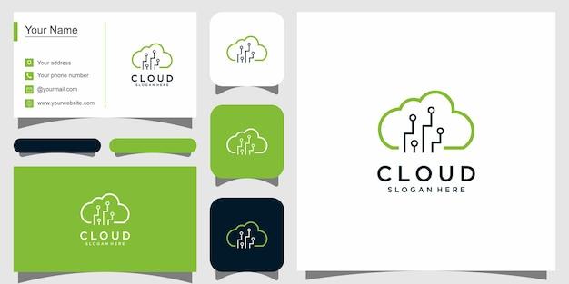 Design del logo cloud semplice moderno