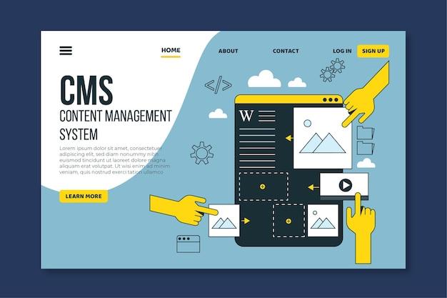 Design piatto pagina di destinazione cms