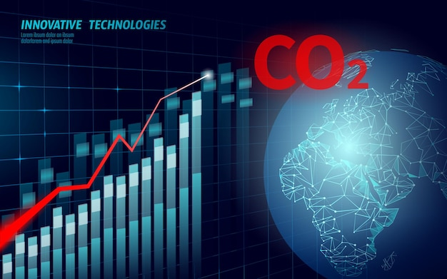 Inquinamento atmosferico da co2 pianeta terra