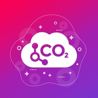 Co2, gas di carbonio arte vettoriale