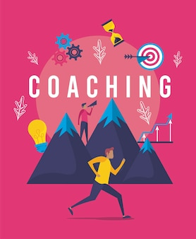 Poster aziendale di coaching