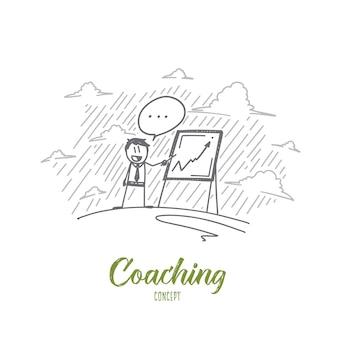 Illustrazione di concetto di coaching