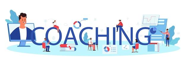 Intestazione tipografica di coaching